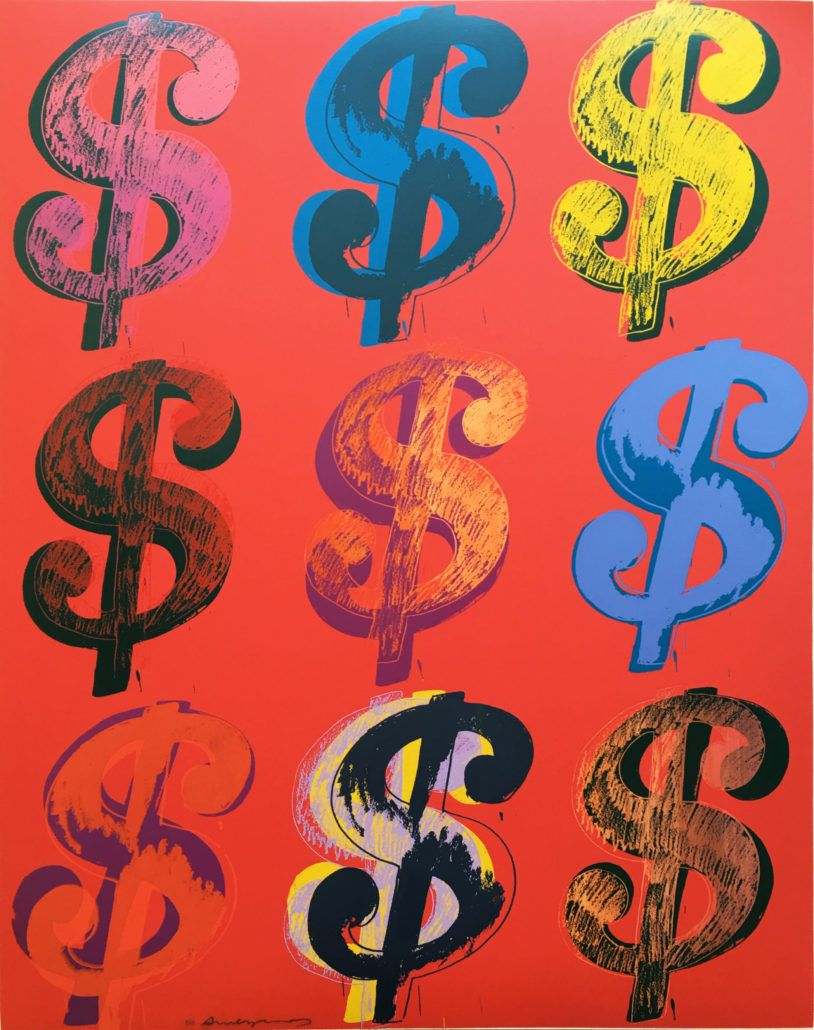 Andy Warhol 9 Dollar Sign 1982