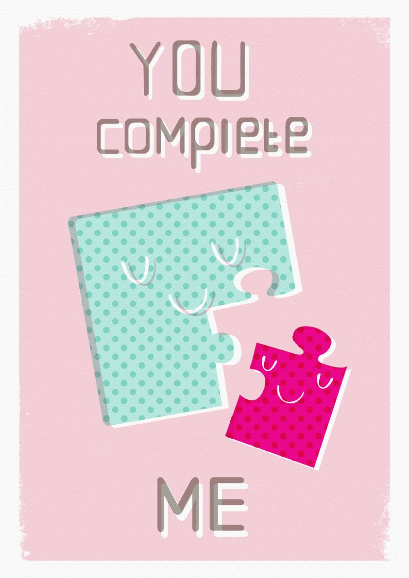 Pin By Connie Pierce On Sooo Cute You Complete Me Quotes Puzzle