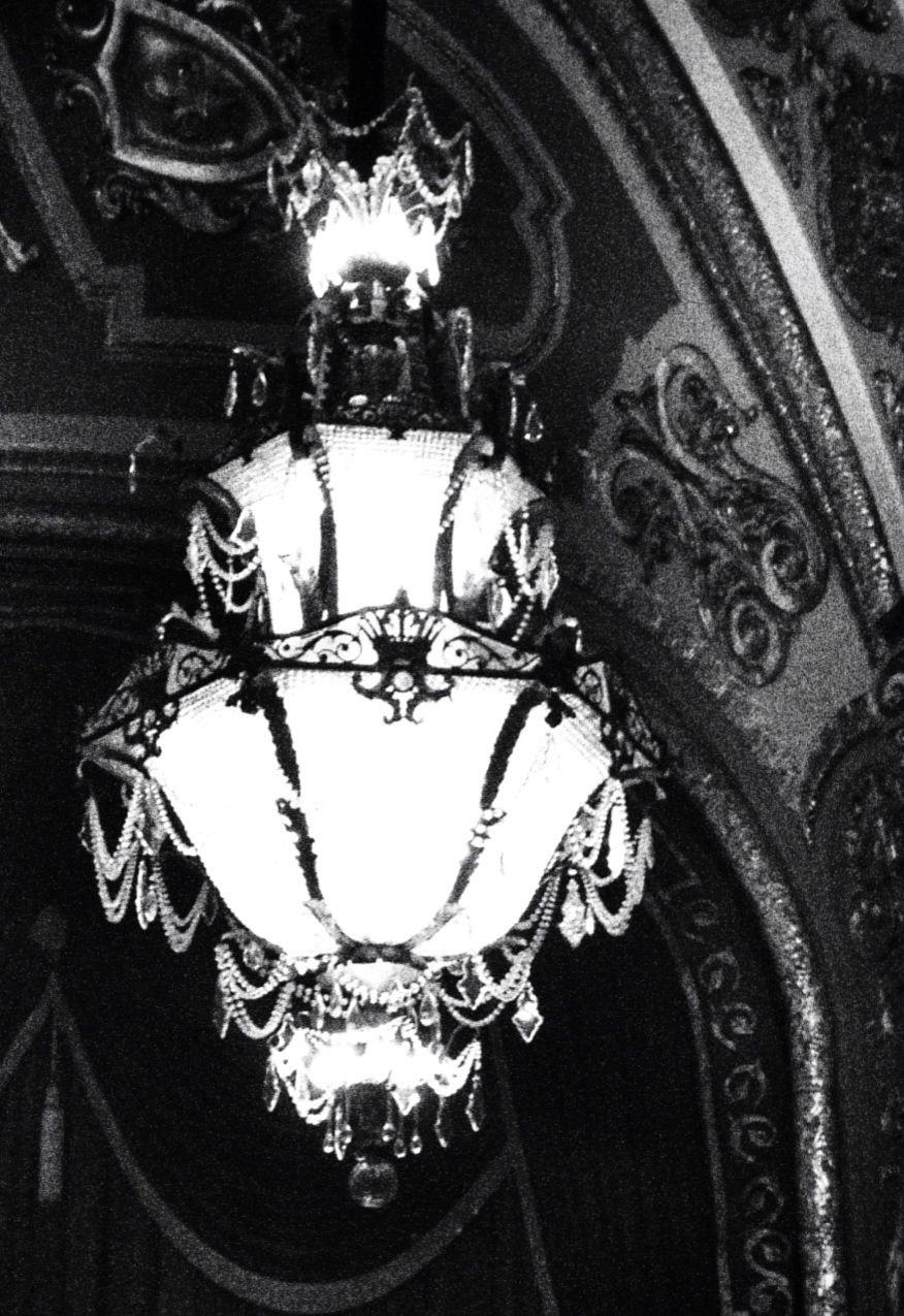 Orpheum Theatre chandelier. Memphis TN 11/2/2012