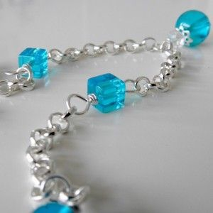 Nice and blue hand made necklace