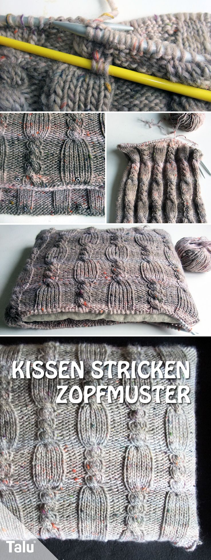 kissen stricken mit zopfmuster anleitung f r dicke wolle richtig gestrickt anleitungen zum. Black Bedroom Furniture Sets. Home Design Ideas