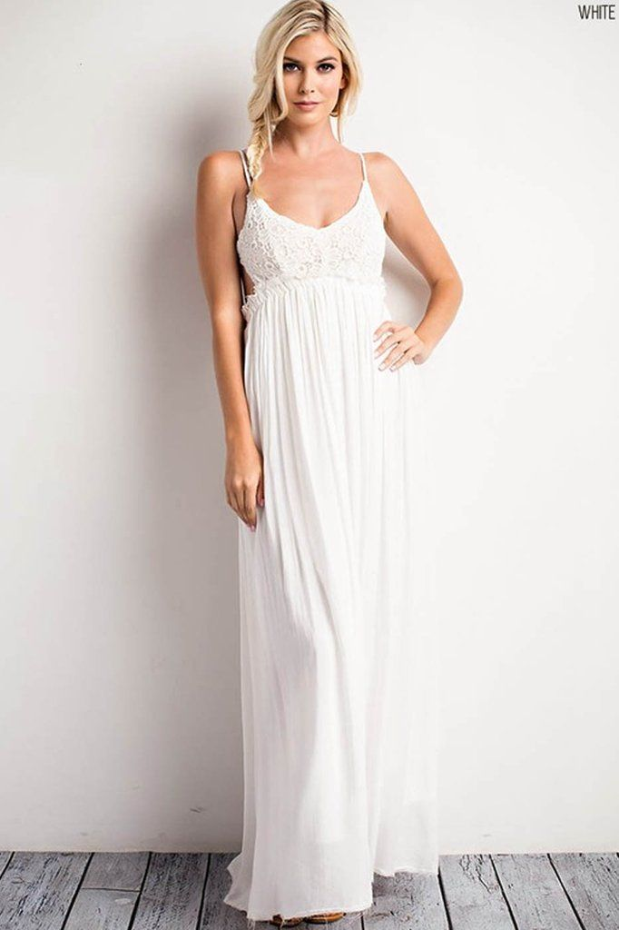 40c0117fee5 Something Special Crochet Maxi Dress - White - ShopLuckyDuck - 3 ...