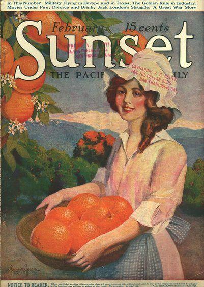 Sunset February 1918