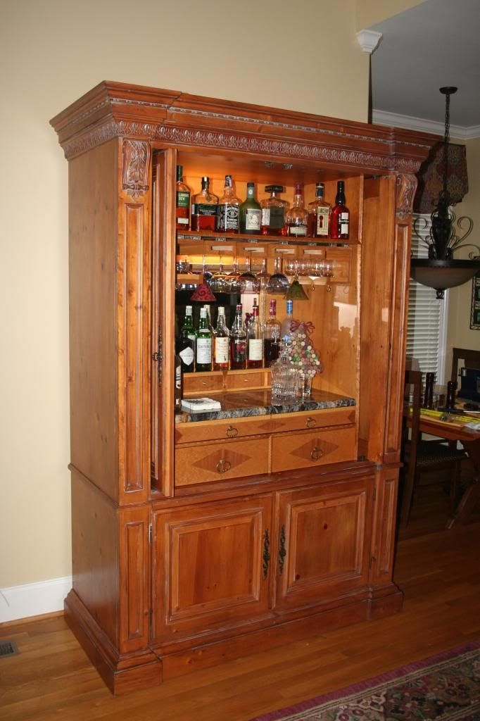 Repurposed Entertainment Center As A Bar Home