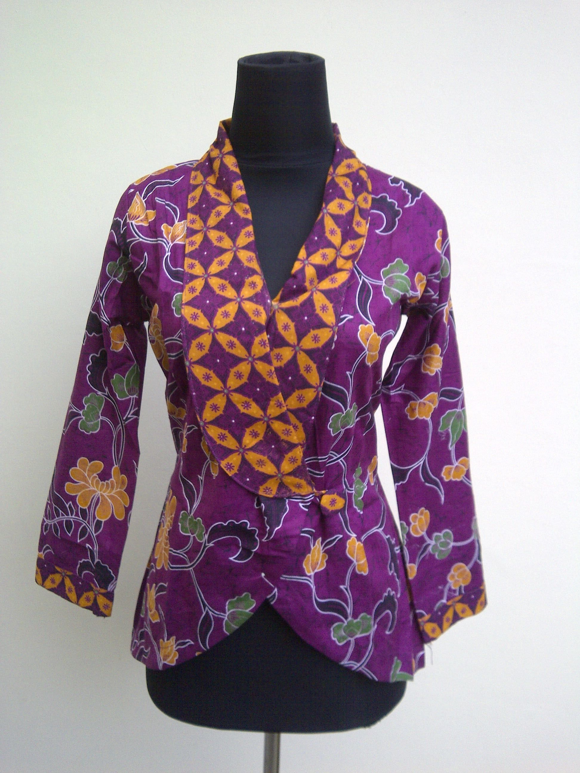 Desain Baju Batik Wanita Modern Terbaru | Klopdesain