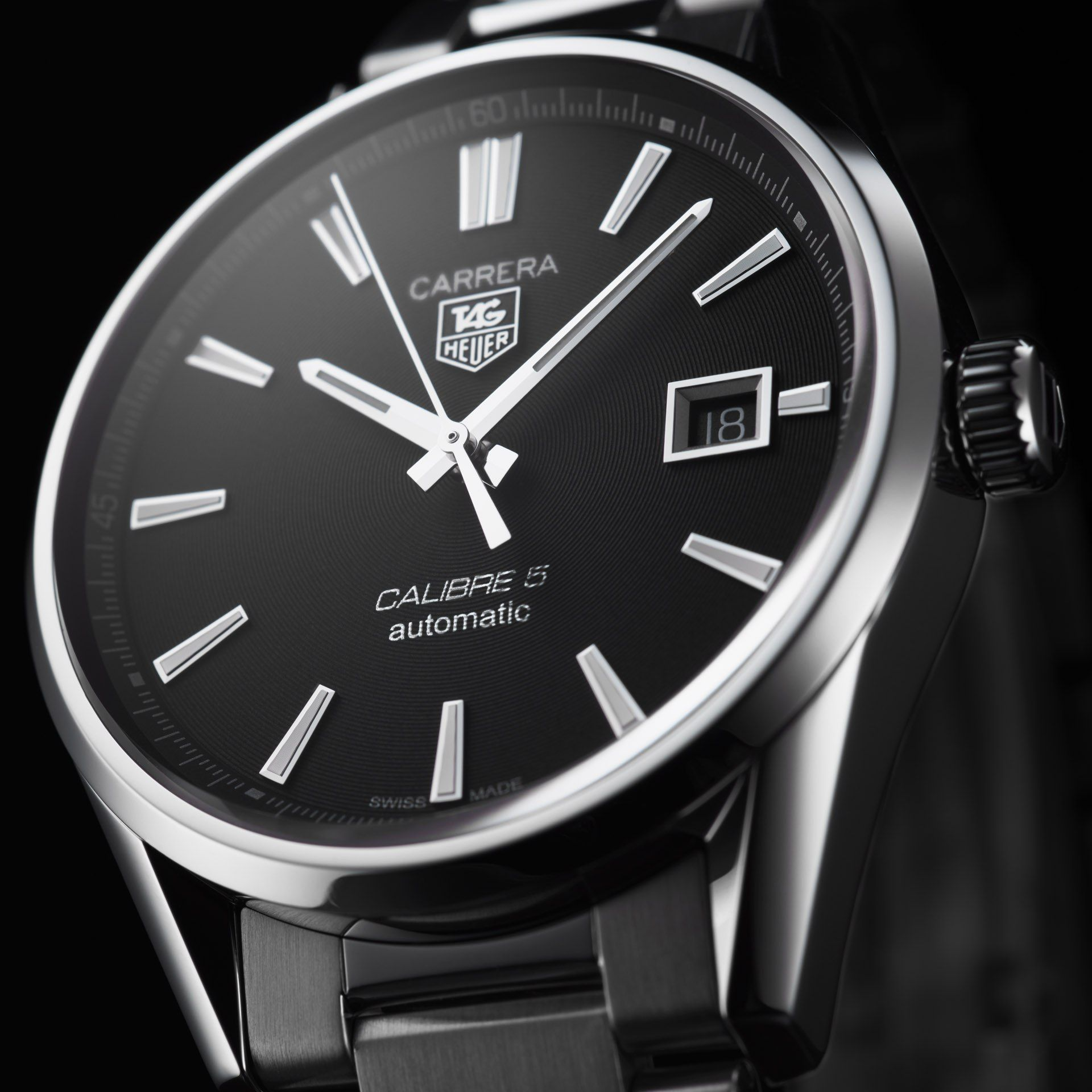 TAG HEUER CARRERA Calibre 5 in 2019 | Time tellers | Tag ...