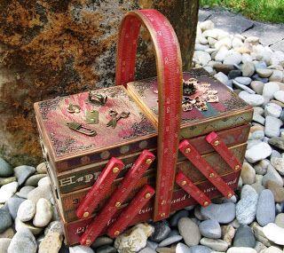 Sewing box turned craft storage