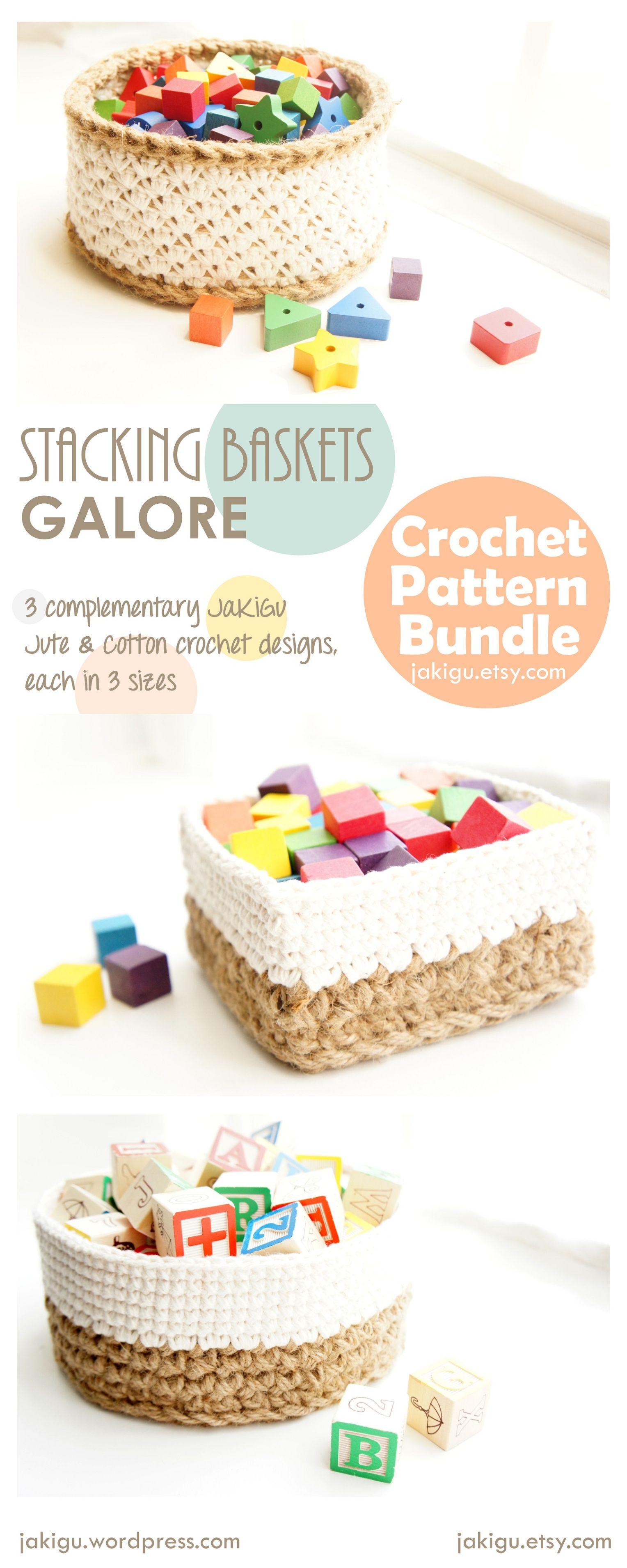 JaKiGu Crochet Baskets Pattern Bundle   Proyectos que debo intentar ...