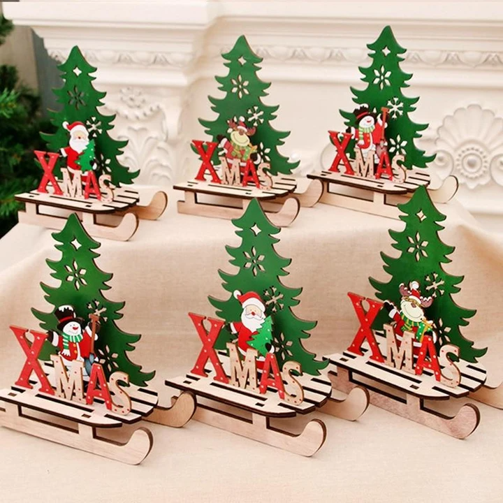 MDF Happy Christmas Table decoration