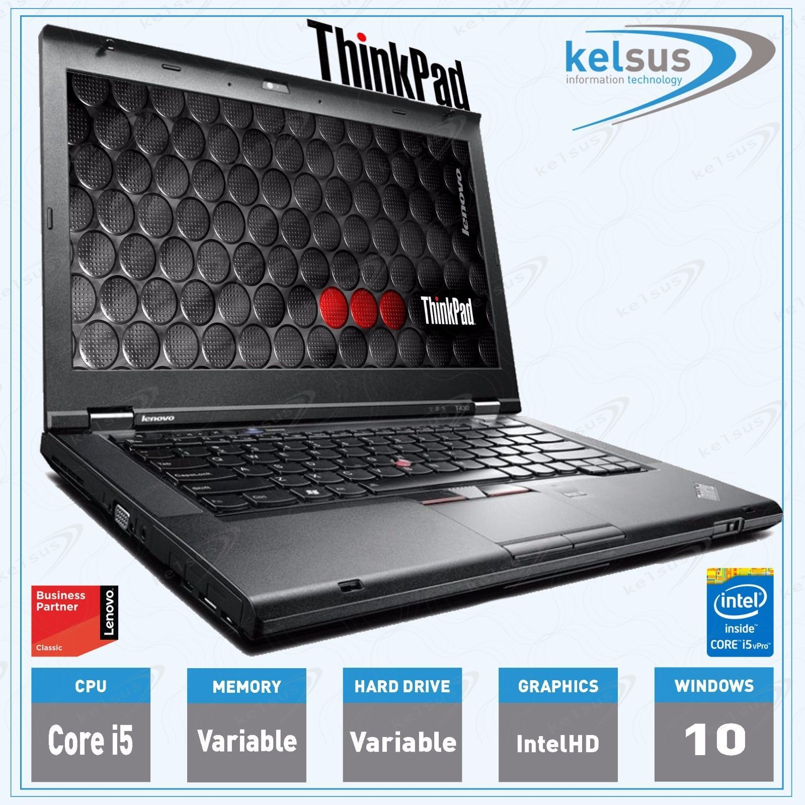 Details about Cheap Refurbished LENOVO ThinkPad T430 Laptop Core i5