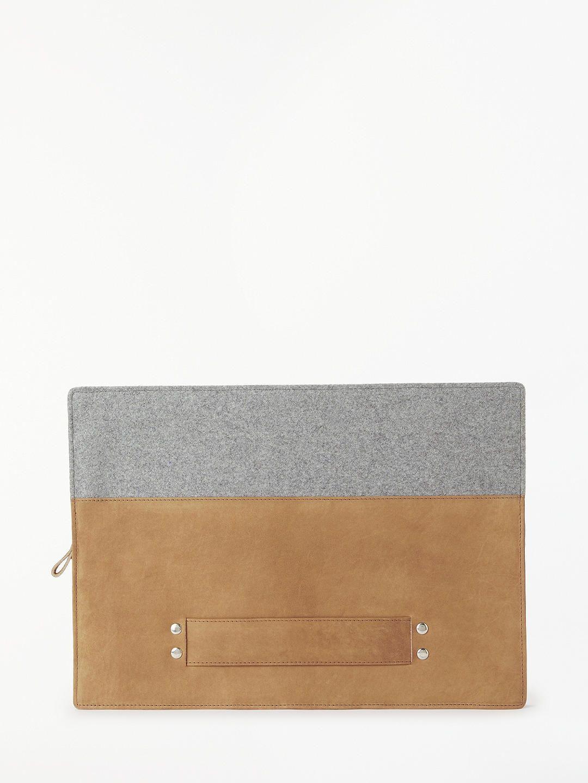 ccd8f65aa62c BuyJohn Lewis   Partners Leather Felt Laptop Case