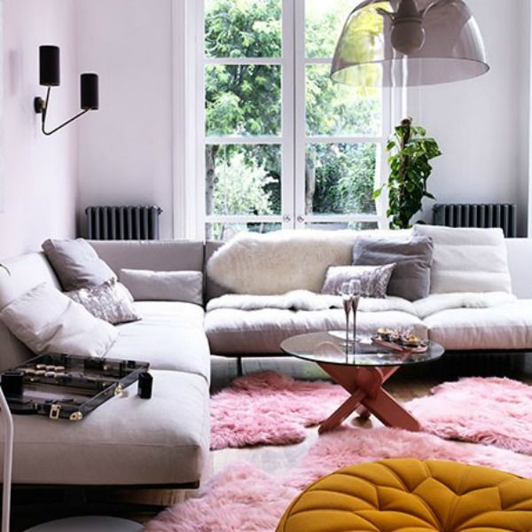 #Blush White And Pink Sheepskin Rugs From Housetohome