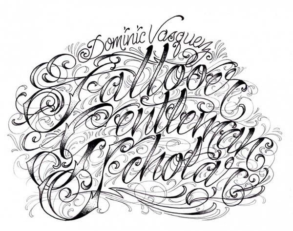 Image of Fonts Fancy Script Dominic Vasquez Graffiti Alphabet ...