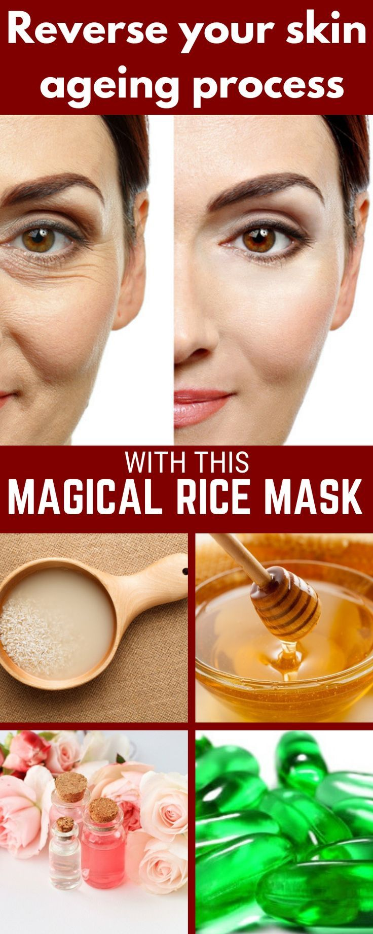 Magical Mask With Rice To Prevent Skin Aging -   17 skin care Masks facials ideas