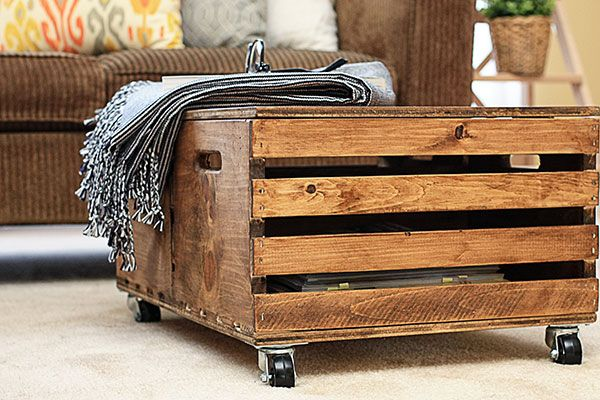 Charmant Wooden Crates Become A DIY Storage Ottoman