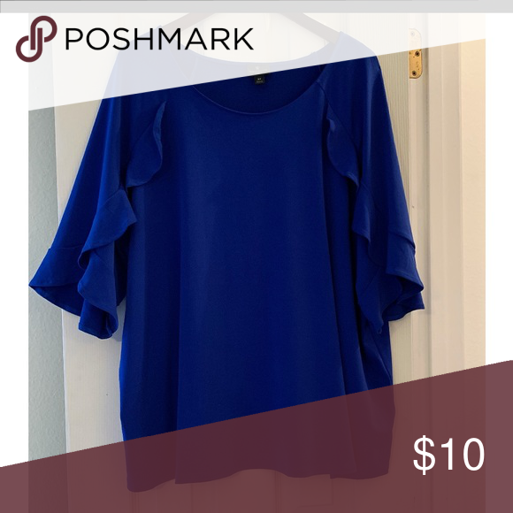 Royal Blue Dressy Tops