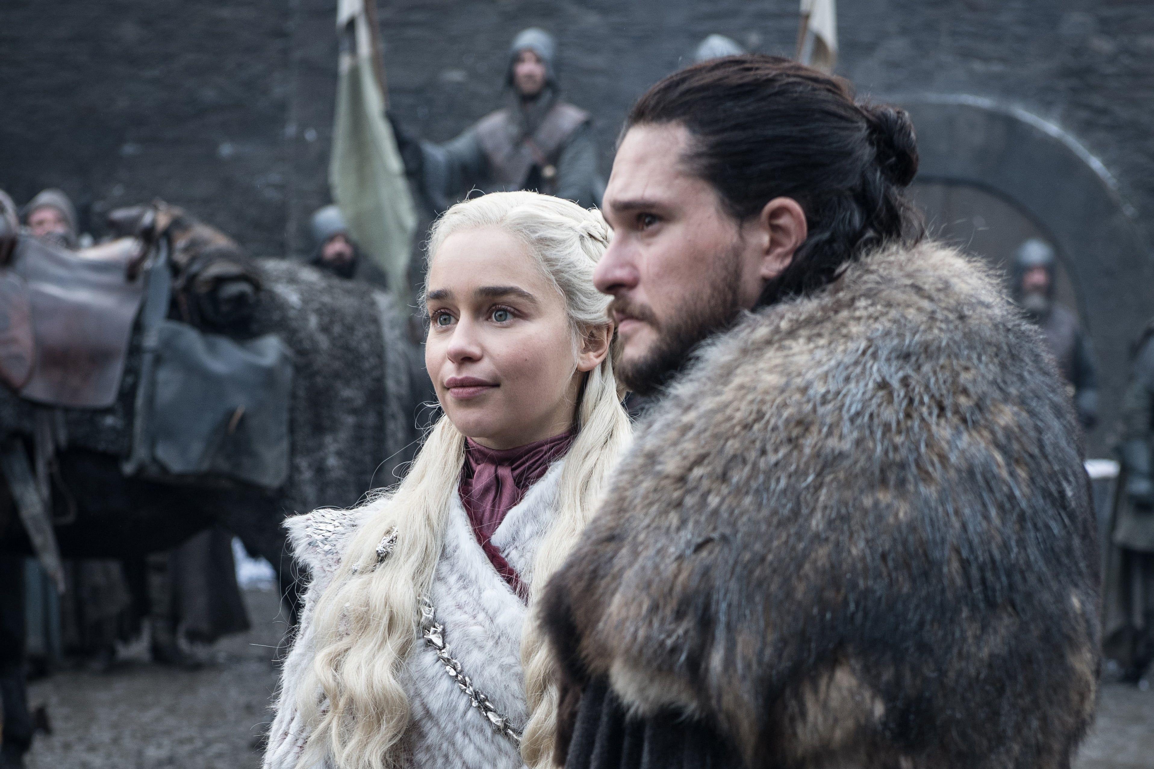 Tv Show Game Of Thrones Daenerys Targaryen Emilia Clarke Jon Snow Kit Harington 2k Wal Jon Snow Wallpapers Daenerys Targaryen And Jon Snow Daenerys Targaryen