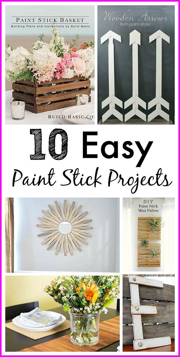 10 Paint Stir Stick Projects