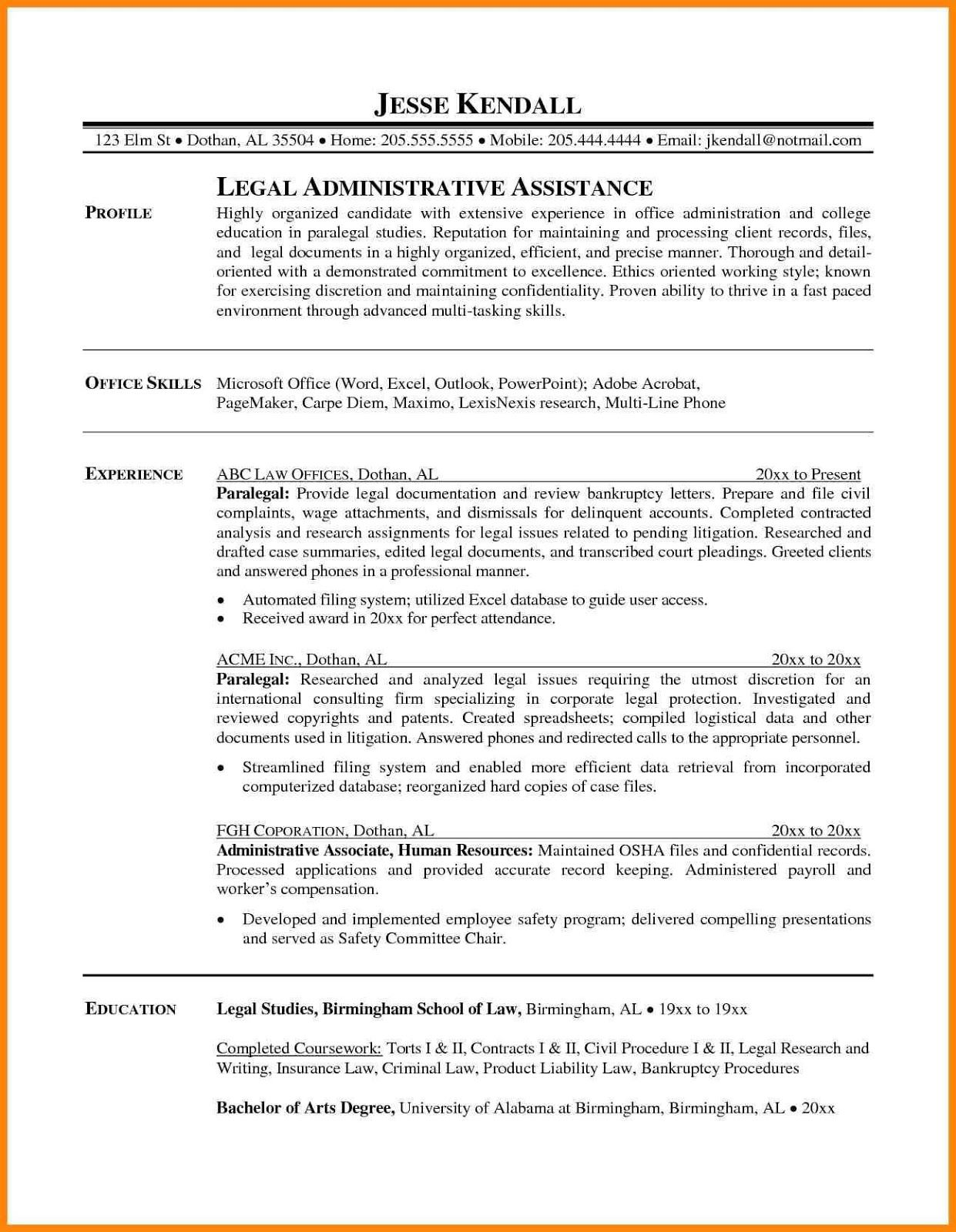 Paralegal resume sample 2019 paralegal resume examples