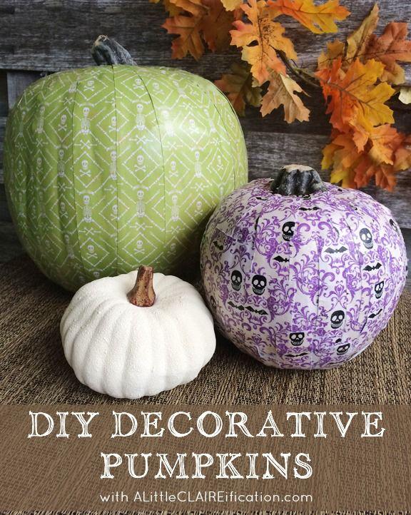 Scrapbook Paper Pumpkins and Fall Decor Inspiration Easy fall - hobby lobby halloween decor