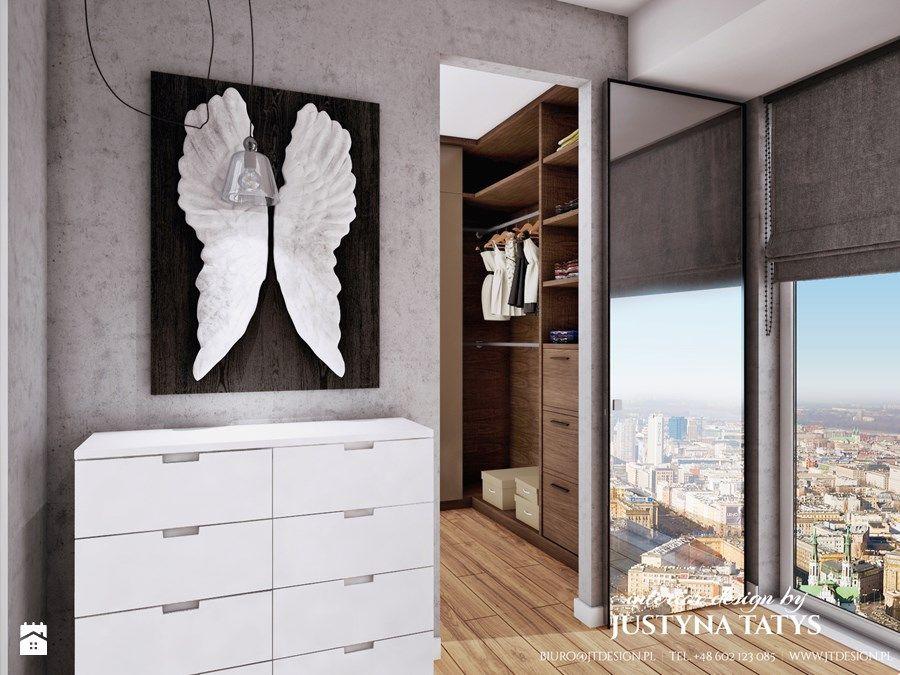 sypialnia z garderob zdjcie od jt design justyna tatys