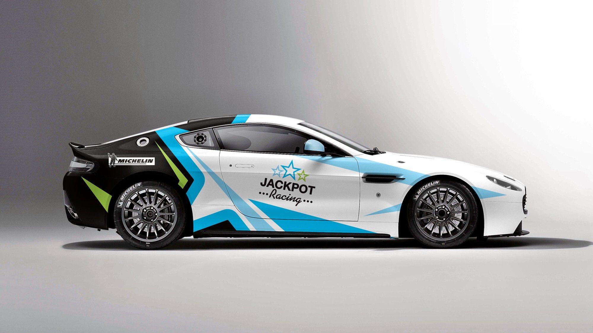 Car design sticker rally - Auto Aston Martin Jackpot Racing