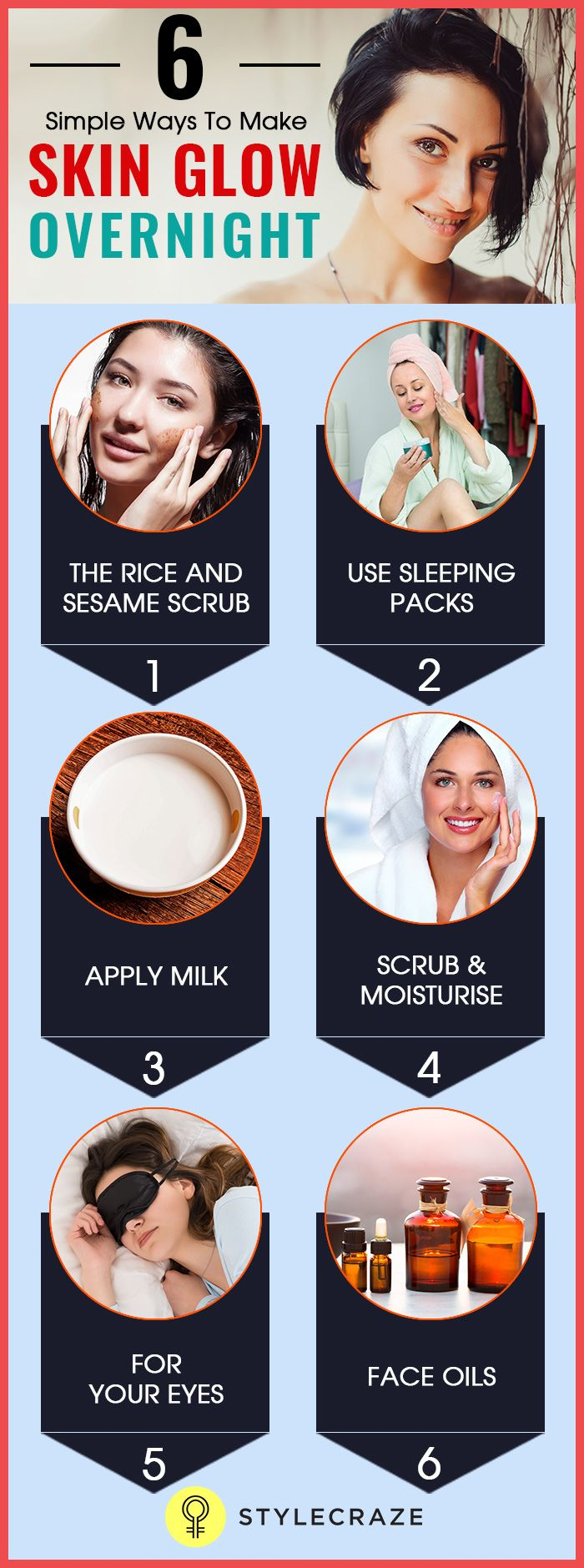 6 Simple Ways To Make Skin Glow Overnight