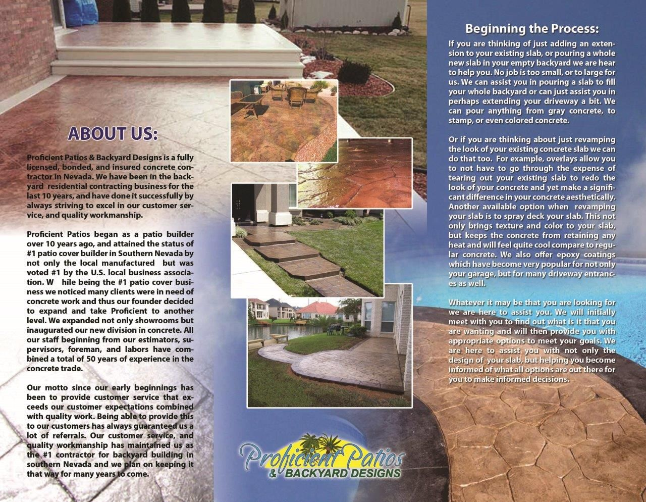 Superior Las Vegas Landscaping Brochure For Proficient Patios