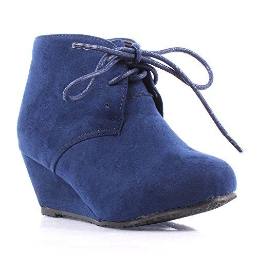 Cute Fashion New Faux Suede Pumps Lace up Girls High Heels Kids ...