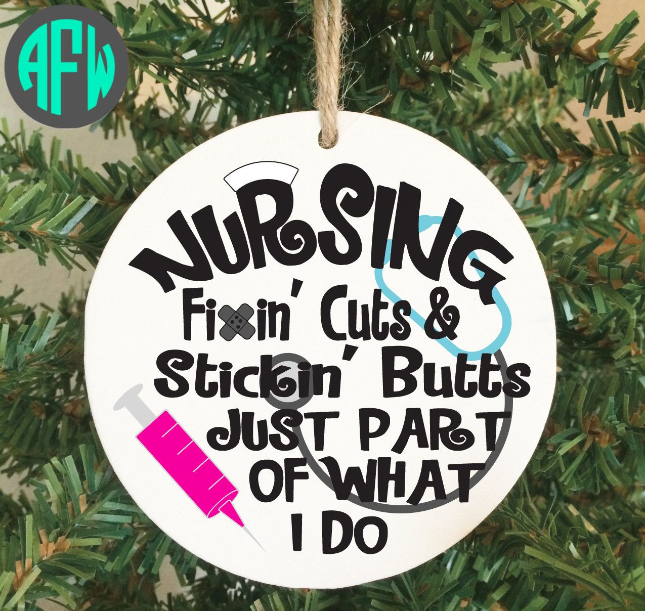 Nurse Ornament, Nursing, Nurse Appreciation, Christmas Ornament, RN ...