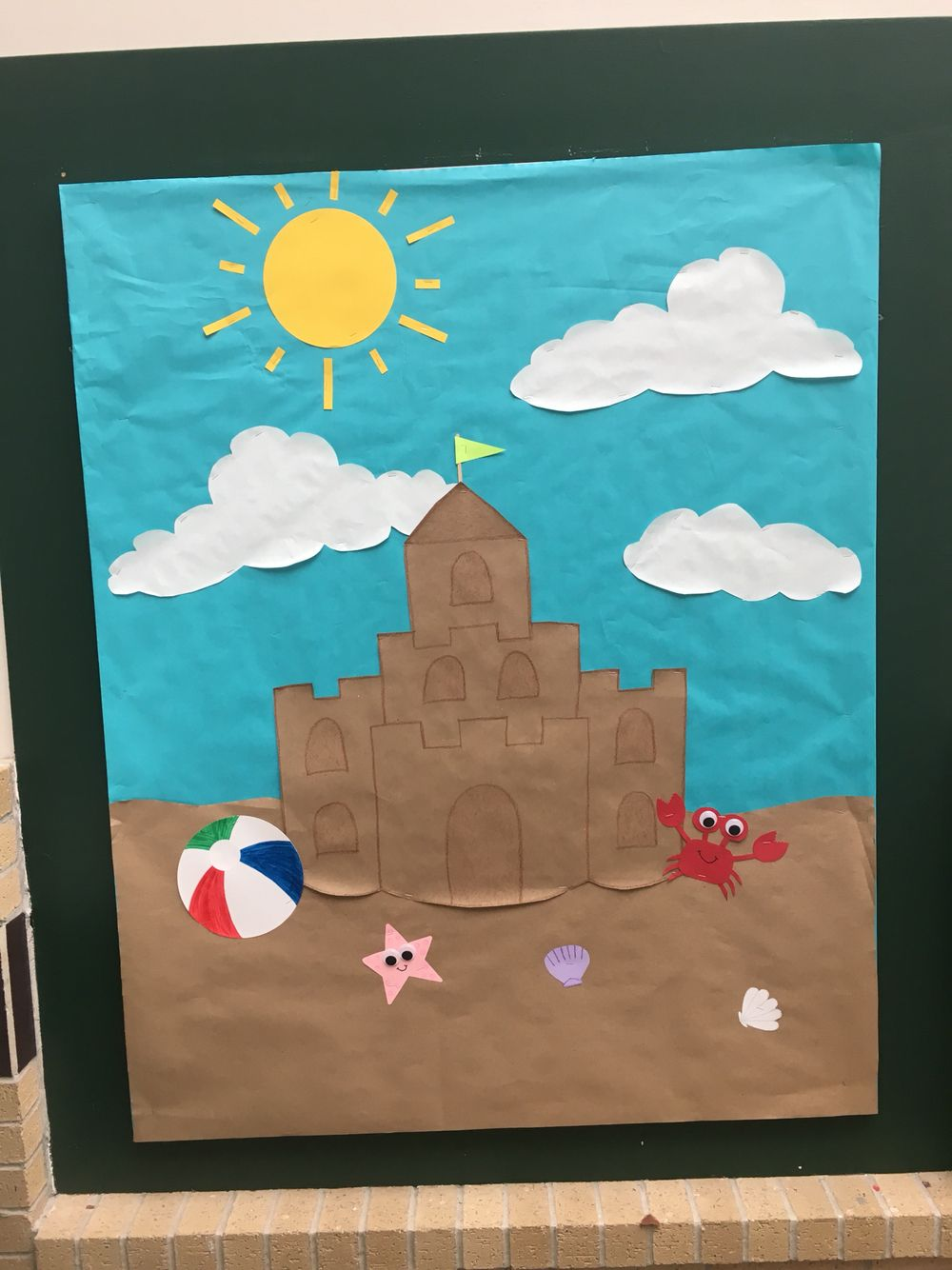Butterfly Classroom Door Decorations ~ End of the year summer bulletin board sand castle on