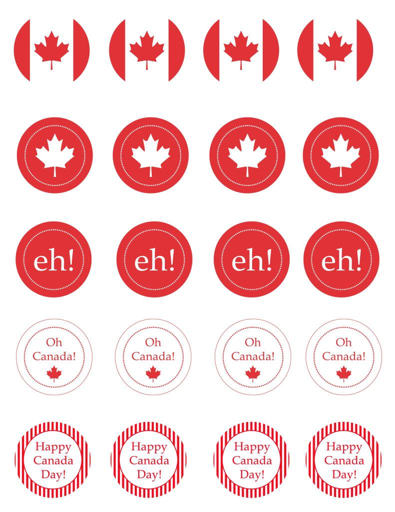 canada day printables and ideas
