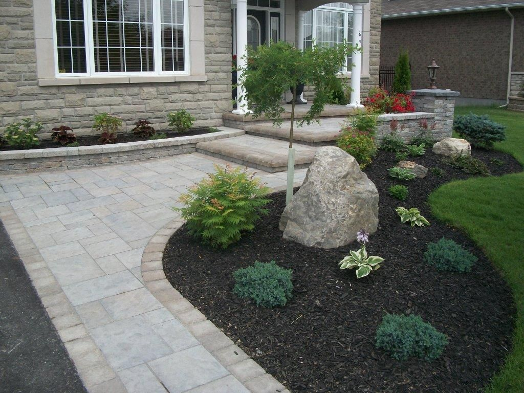 Front yard driveway landscaping ideas  driveway landscaping  Ottawa Landscaping  Ottawa Interlocking