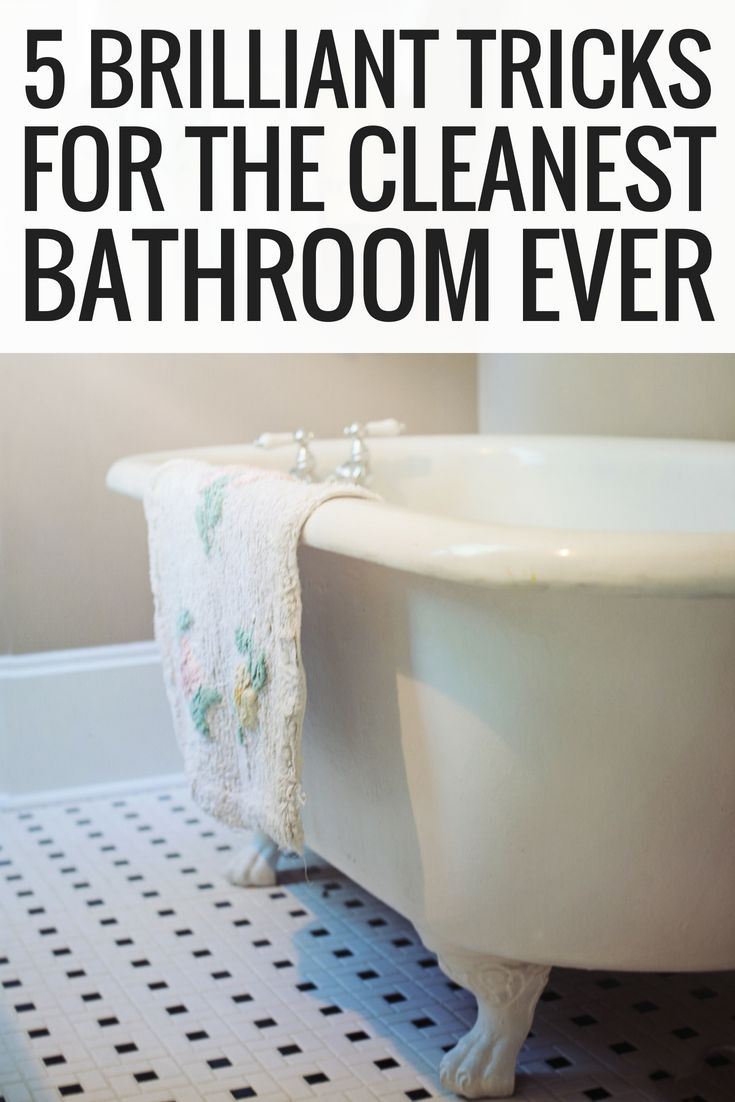 5 Brilliant Tricks For The Cleanest Bathroom Ever How To Clean Bathroom Tips And Tr Life Hacks Organization Bedroom Organization Diy Bathroom Organization Diy