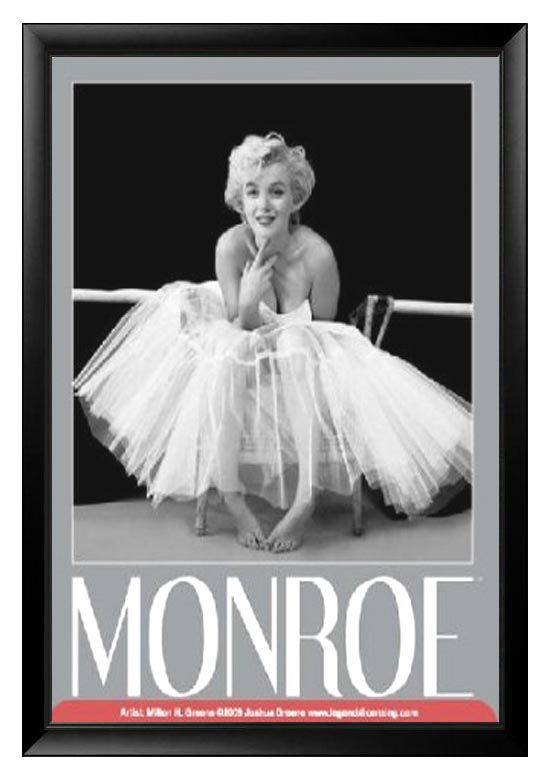 Marilyn Monroe Desk Accessories Marilyn Monroe Ballerina Textured Poster Framed Work It Out Marilyn Monroe Ballerina Og Plakater