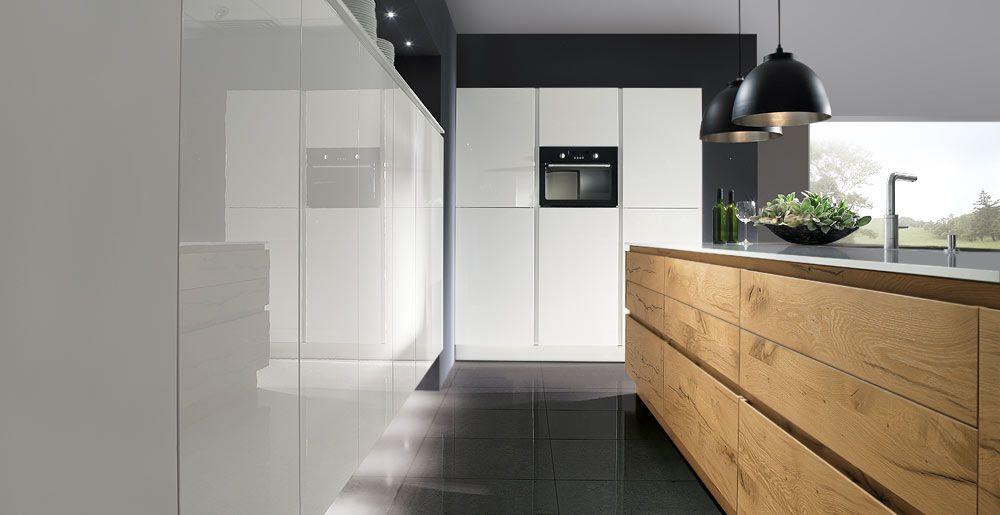 Schröder Küchen Küche massivholz Luce GLX bianco Küchen - kche eiche