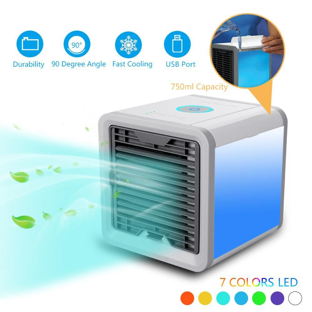 New Air Cooler Fan Air Personal Space Cooler Portable Mini Air Conditioner Device Cool Soothing Wind For Home Room Offic Air Cooler Mini Cooler Portable Cooler