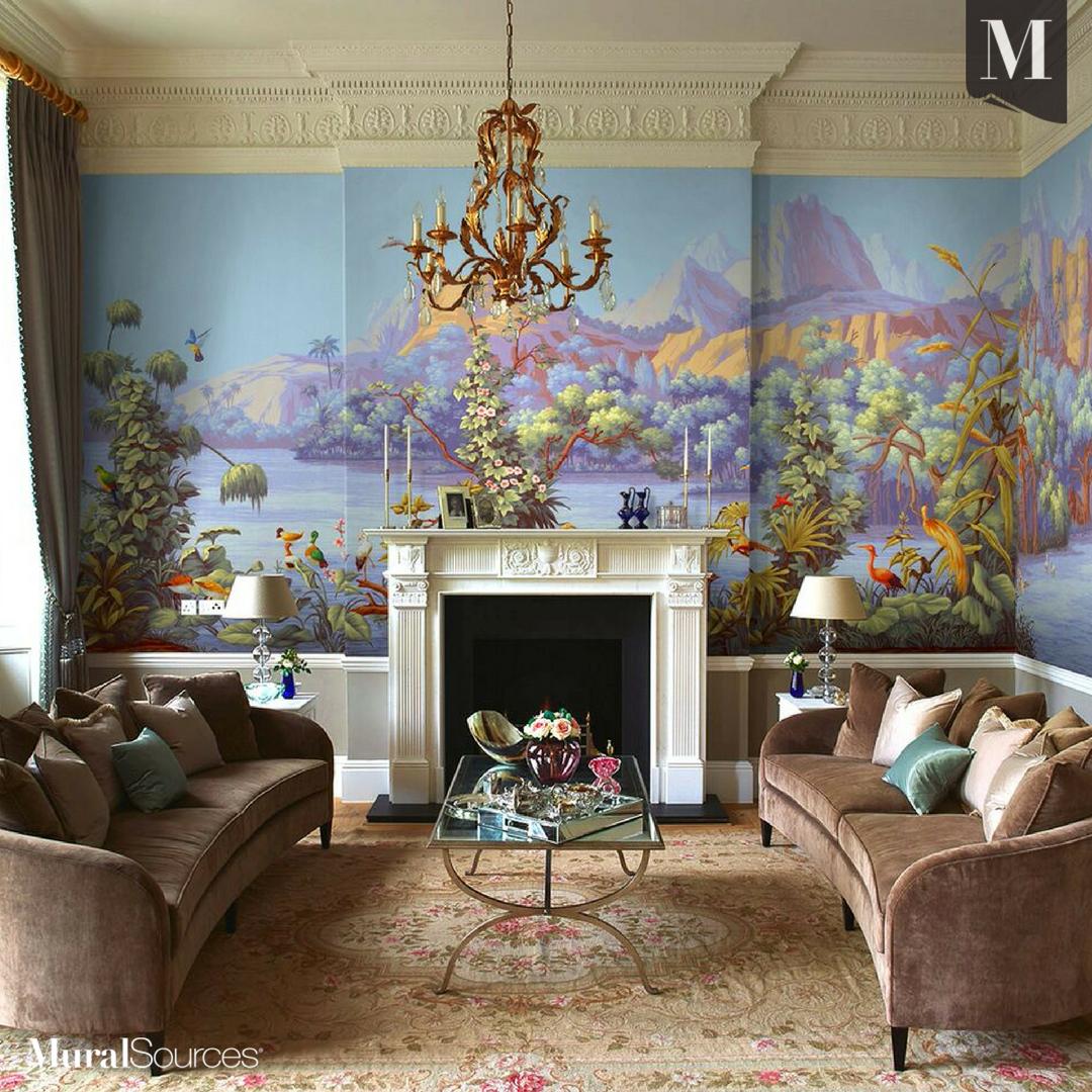 Classichome Interior Design: Americana Worldviews Wallpaper