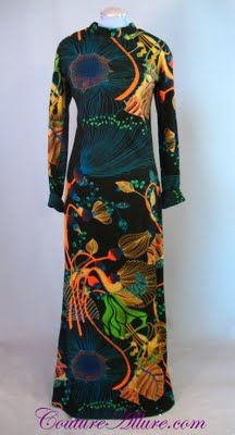 1970's Lanvin evening gown.