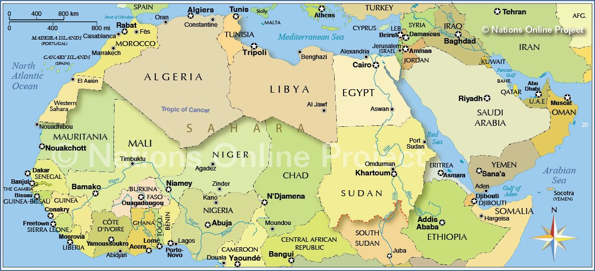 Northern Africa Map | Images for understanding world news | South
