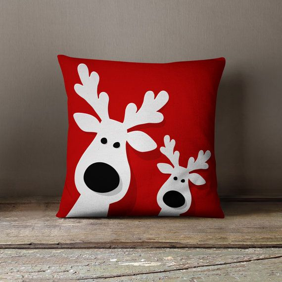 Reindeers on your couch? It must be Christmas. This throw ...