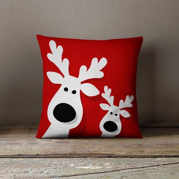 Christmas Pillows Part - 50: Christmas Pillows | Christmas Decorations | Christmas Throw Pillow |  Christmas Decor | Holiday Pillows | Festive Decor | Reindeer Pillows