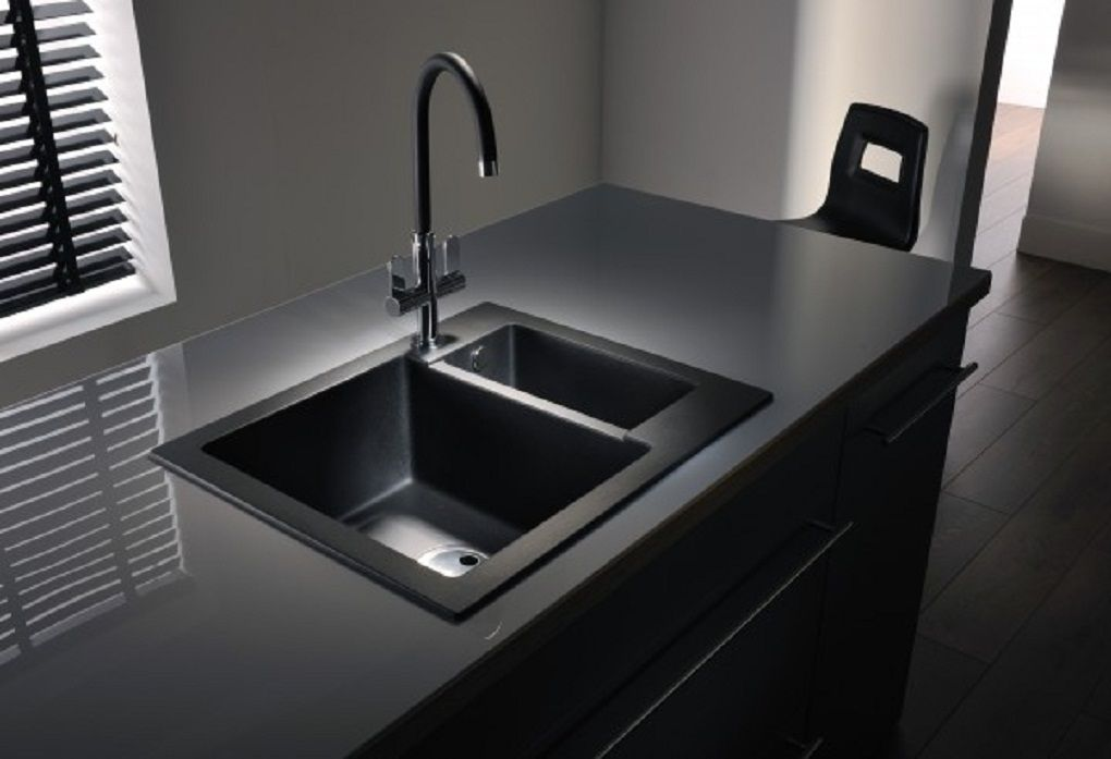 Gothic Kitchen Sinks Idea With Modern Black Basin Countertop And Faucet Style For Gothic Themed Kitchen Black Kitchen Sink Modern Kitchen Sinks Black Kitchens