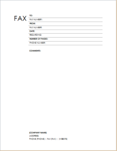 Fax Cover Sheet Block Design Download At HttpWwwTemplateinn