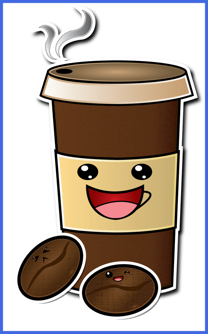 Inspiring Cute Cartoon Coffee Cup Drawing Pic For Coconut Drink Clipart Png Concept And Popular