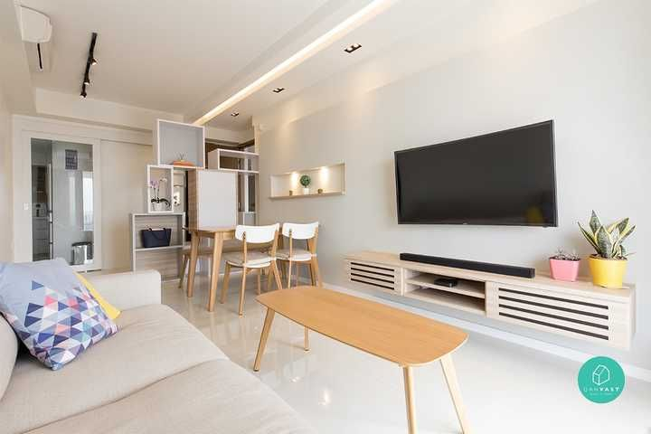 6 Steps To Rock A Scandinavian Look For Less Scandi Living Room Interior Design Interior Design Singapore