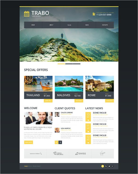 Best Premium Travel Agency Templates, Top Free themes for Travel - online travel agent sample resume