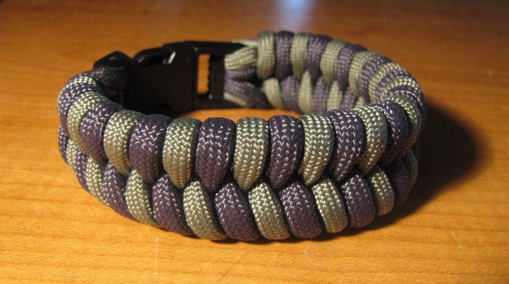 Two Color Paracord Fishtail Bracelet Fishtail Bracelet Paracord