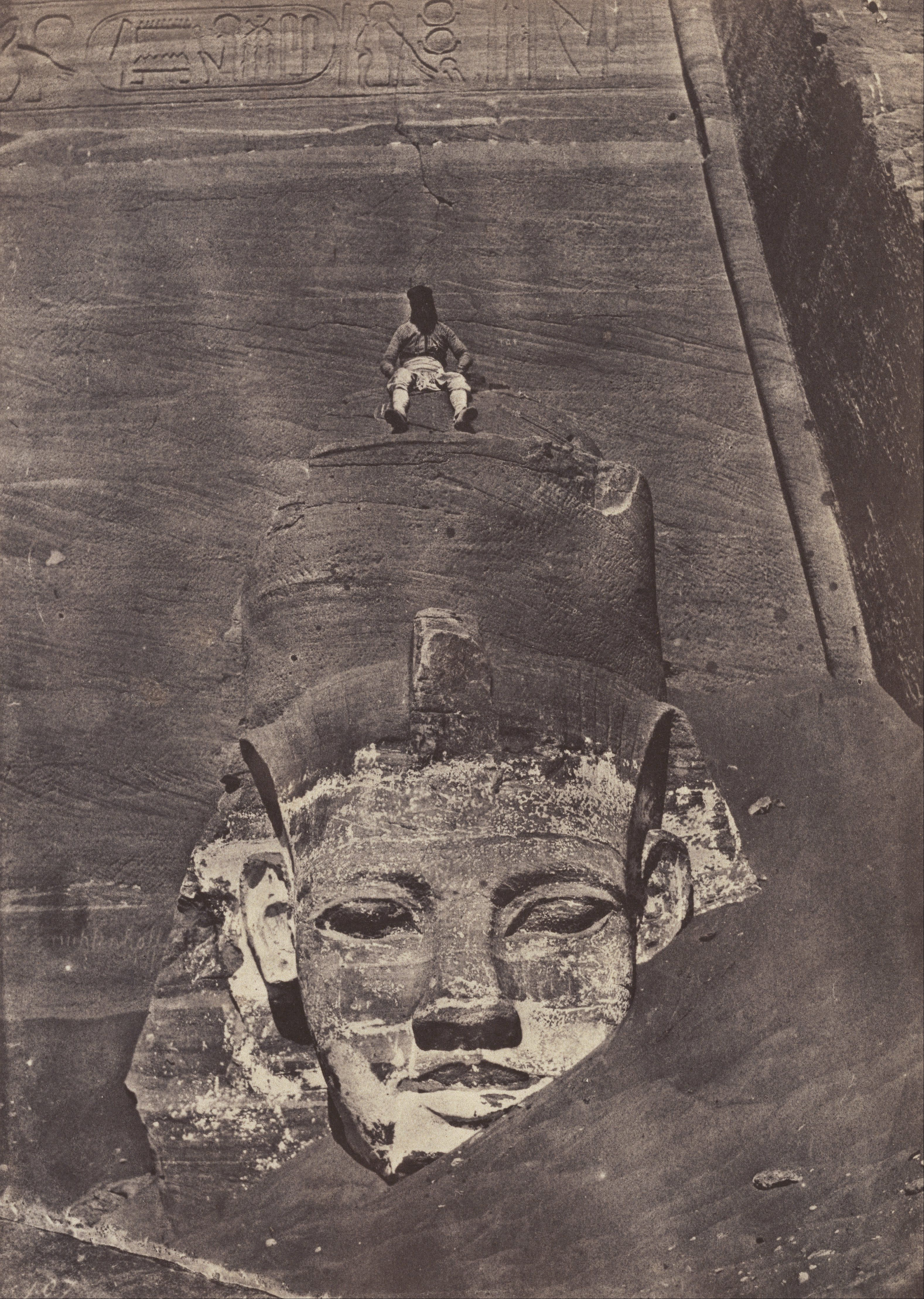 Maxime Du Camp - Westernmost Colossus (portrait of Ramses ...