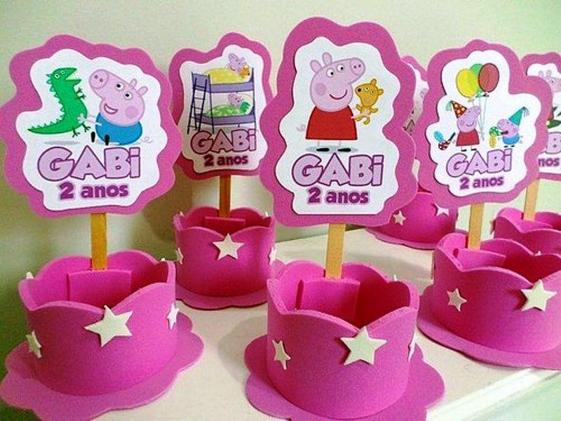 Ideas Para Una Fiesta Temática Peppa Pig De Cumpleaños Fiesta Tematica Peppa Pig Manualidades Para Fiestas Infantiles Centro De Mesa Peppa